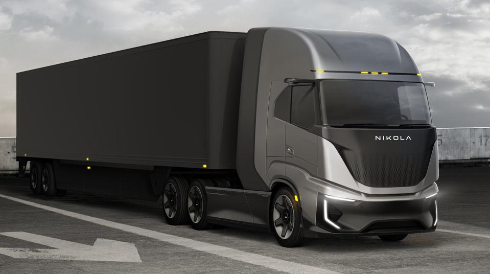 Nikola Tre trucks, developed with IVECO, will offer range of up to 500 miles per hydrogen fueling.