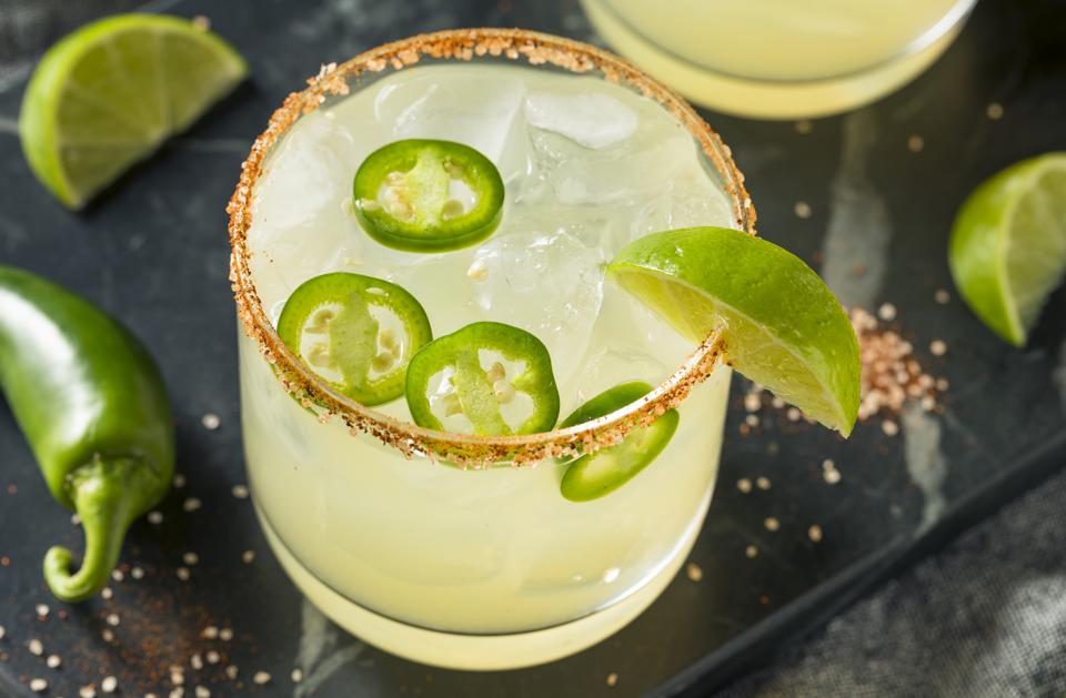 Spicy Margarita with Limes and Jalapeno