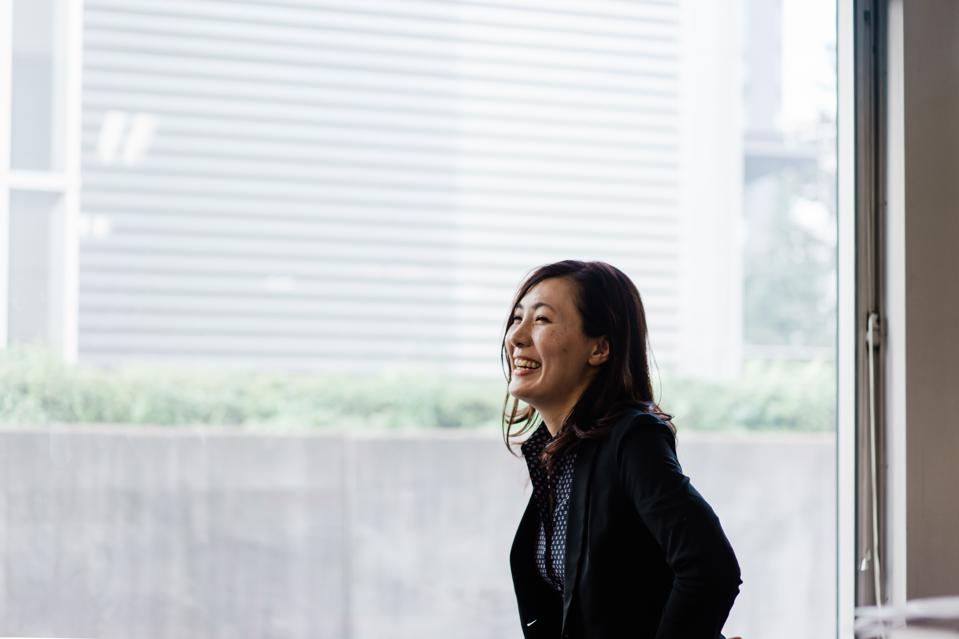 Portrait of smiling female business woman