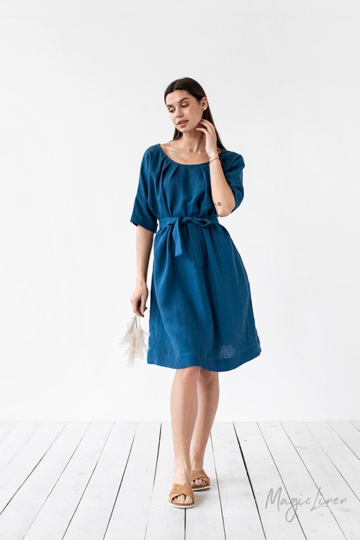 MagicLinen Blue Dress