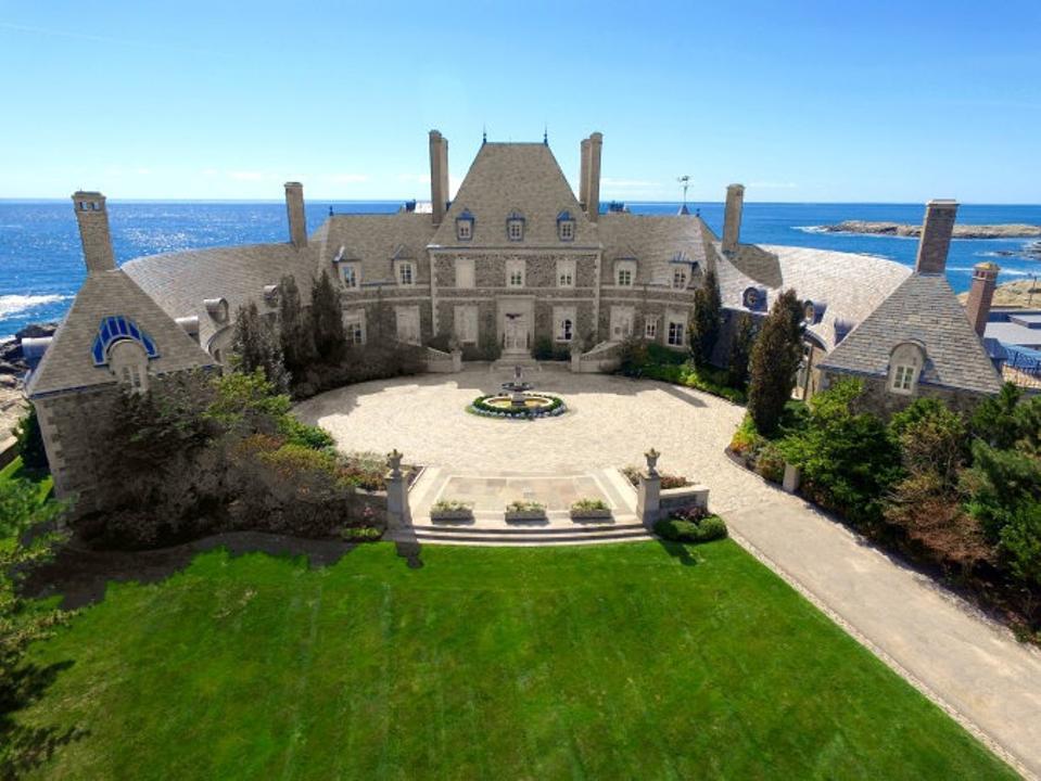 Seafair, a Newport, R.I., mansion on Ocean Avenue overlooks the ocean.