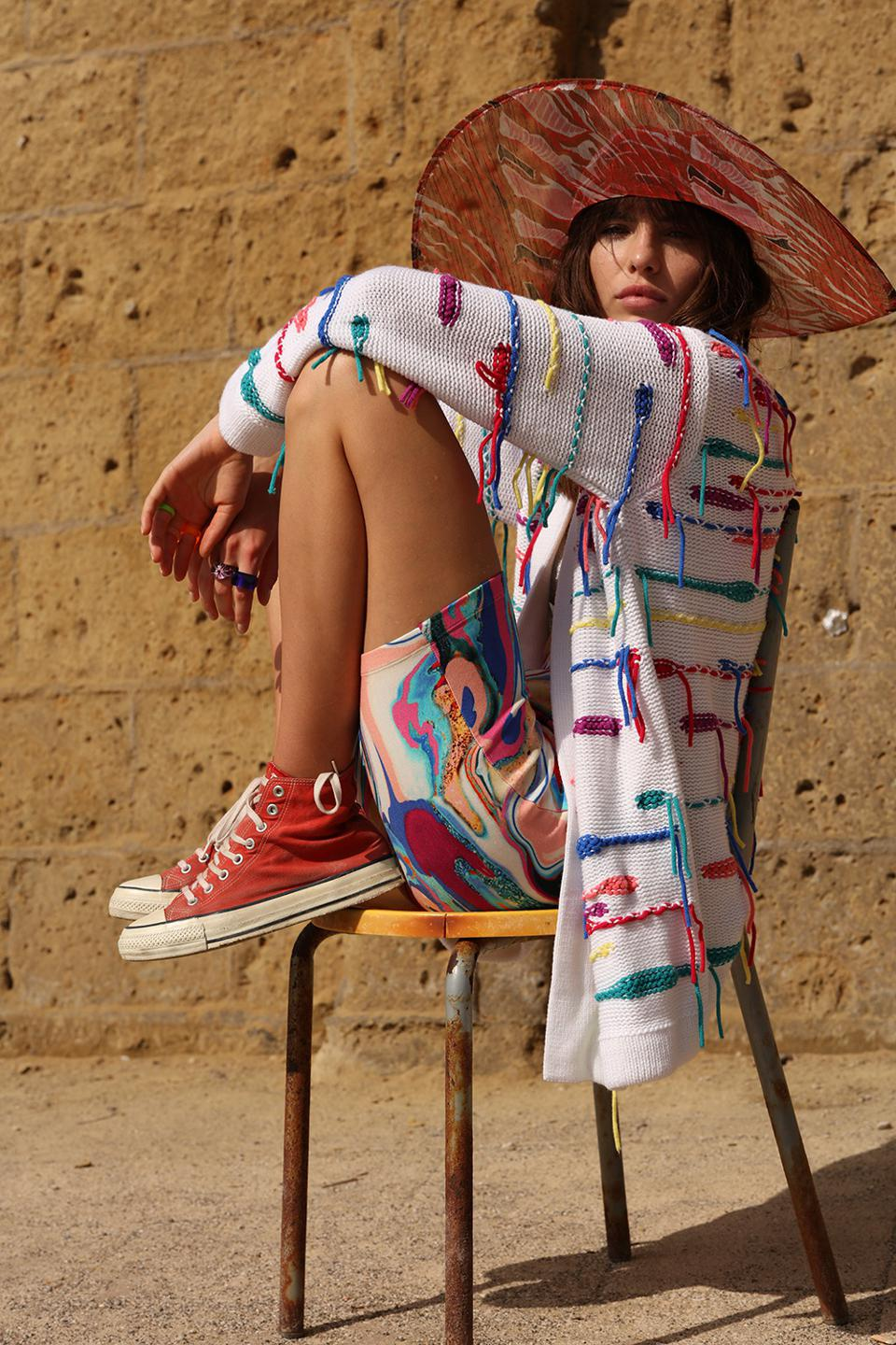 The Psychedelic cashmere cardigan
