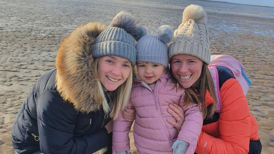Stacey, Danielle and their daughter