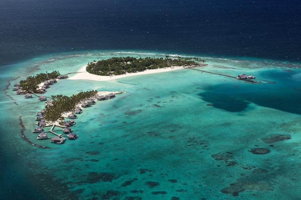Cheval Blanc Randheli is located in the Maldives' Noonu Atoll.