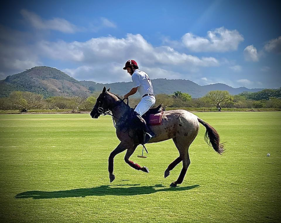 Polo professional Gustavo Mejia Ortiz at Mandarina Polo & Equestrian Club