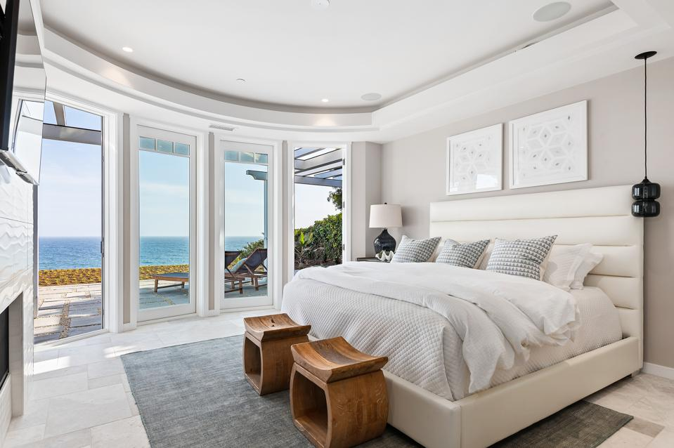 bedroom in newly built house 1631 Shoreline Dr, Santa Barbara, CA 93109