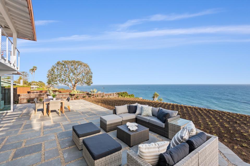 ocean views from new home at 1631 Shoreline Dr, Santa Barbara, CA 93109