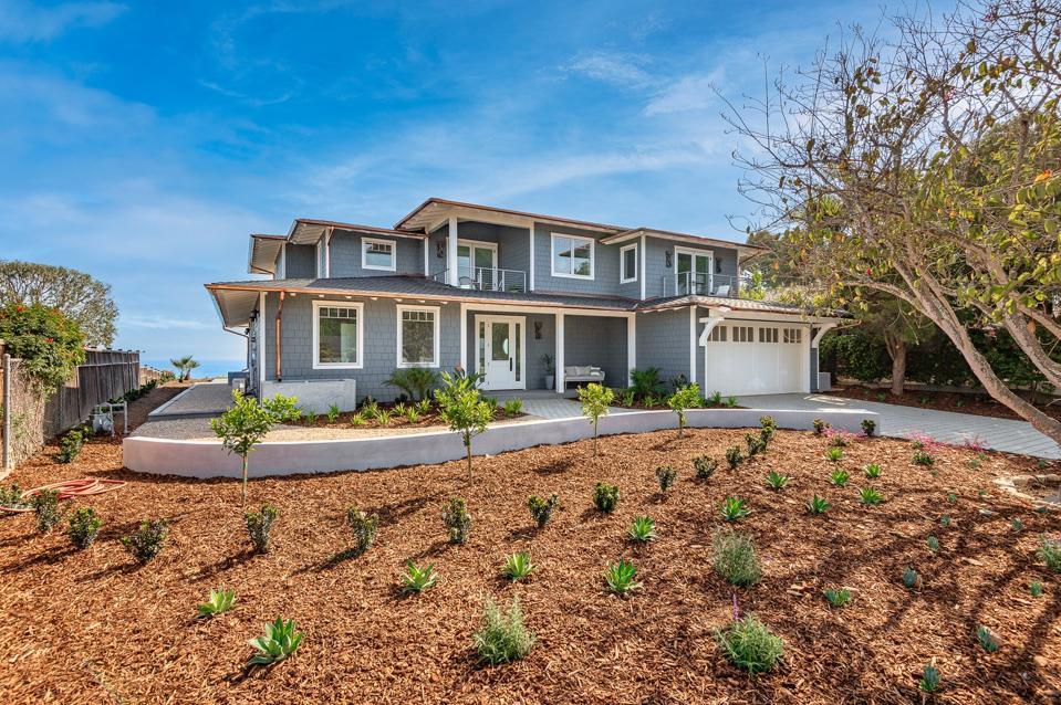 front exterior new estate home 1631 Shoreline Dr, Santa Barbara, CA 93109 4 beds/4.5 baths