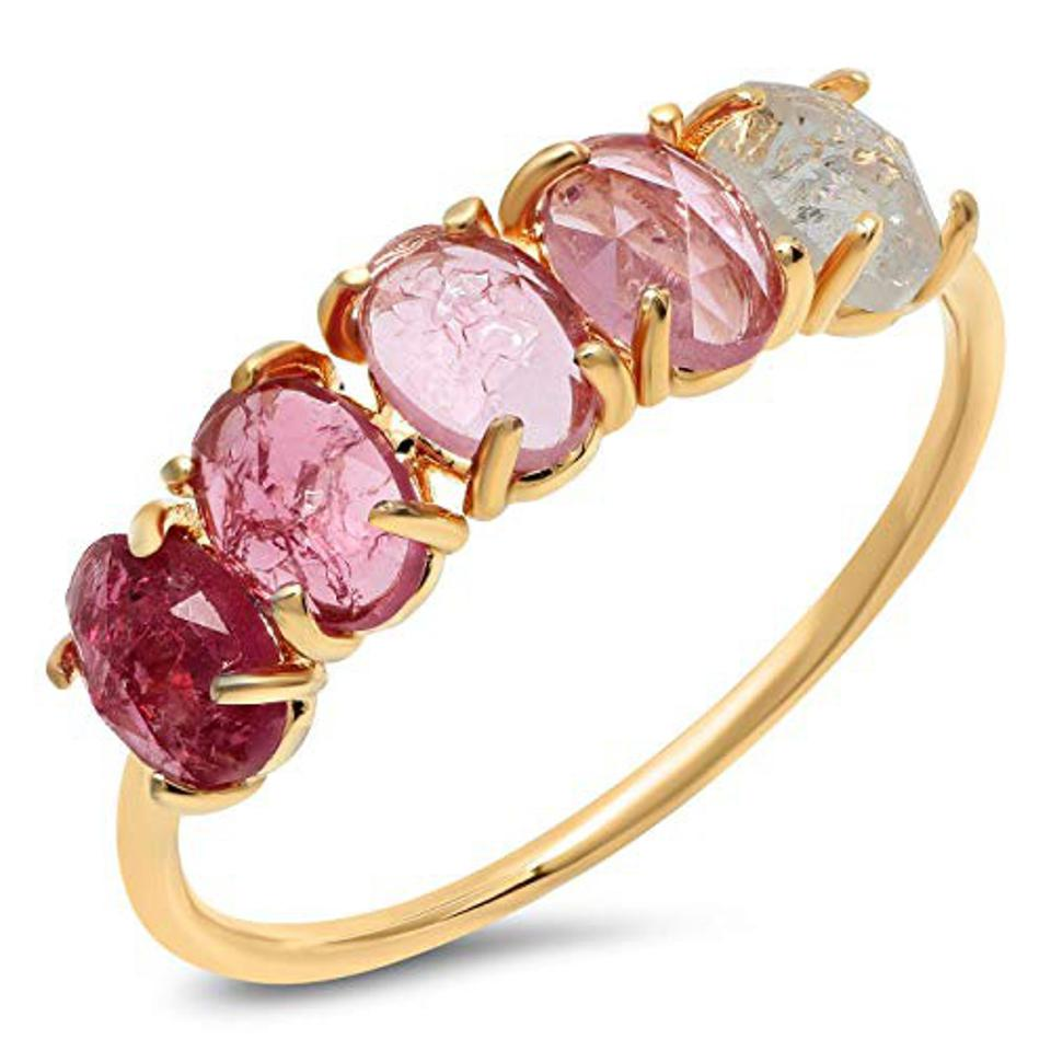 Tai Jewelry Birthstone Ring, Multiple Sizes Personalized Colored Stone - July Birthday (Size 6)