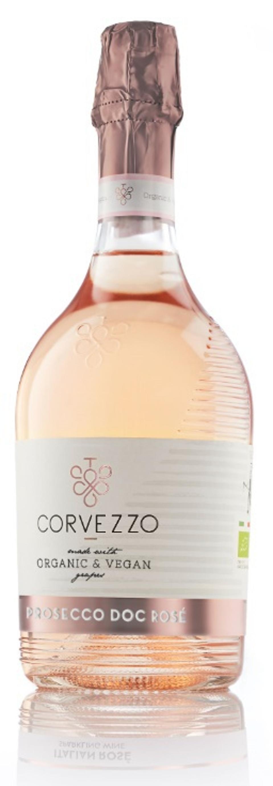 Bottle of Corvezzo Prosecco Rosé DOC