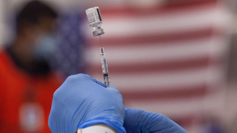 Covid-19 vaccine syringe in West Virginia