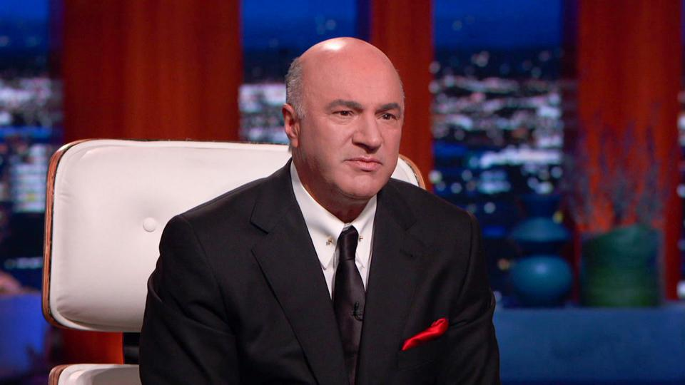 Close-up of Kevin O'Leary on ″ Shark Tank ″