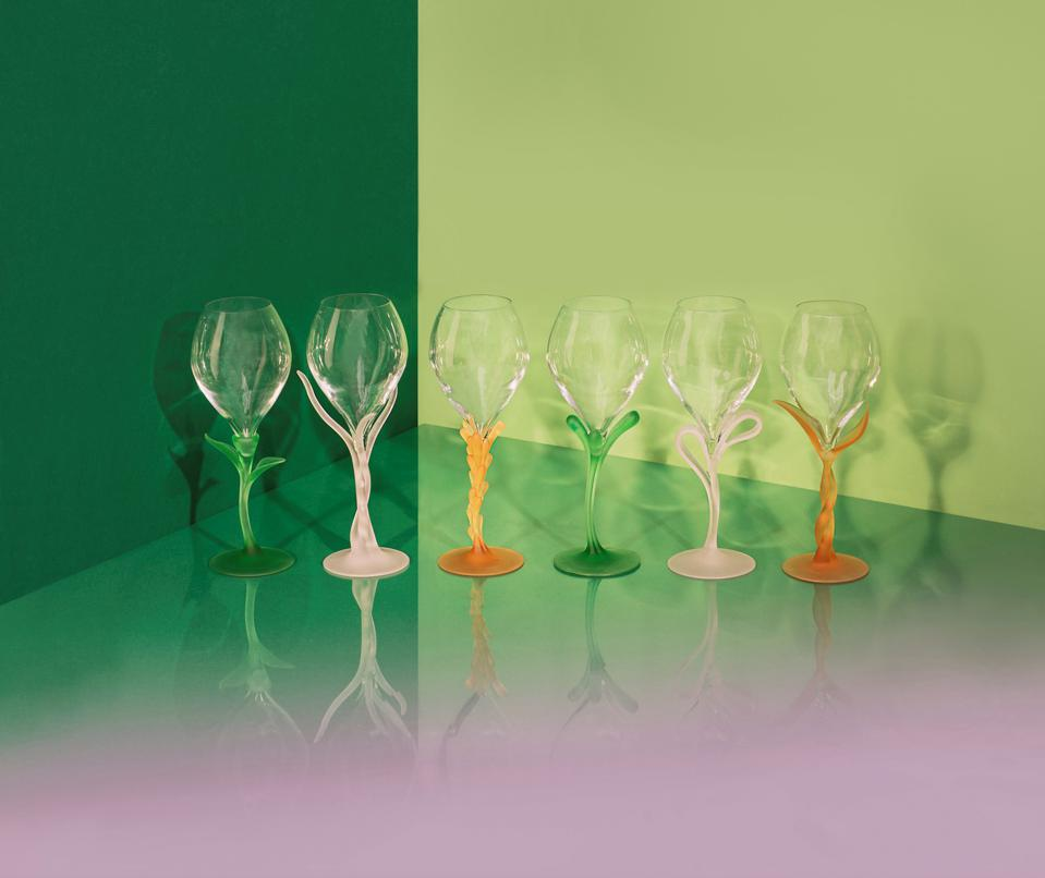 Metamorphosis champagne glass for Perrier-Jouët