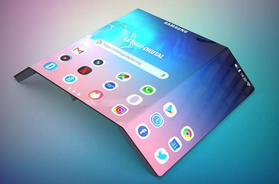 Samsung Galaxy tri-fold concept image.