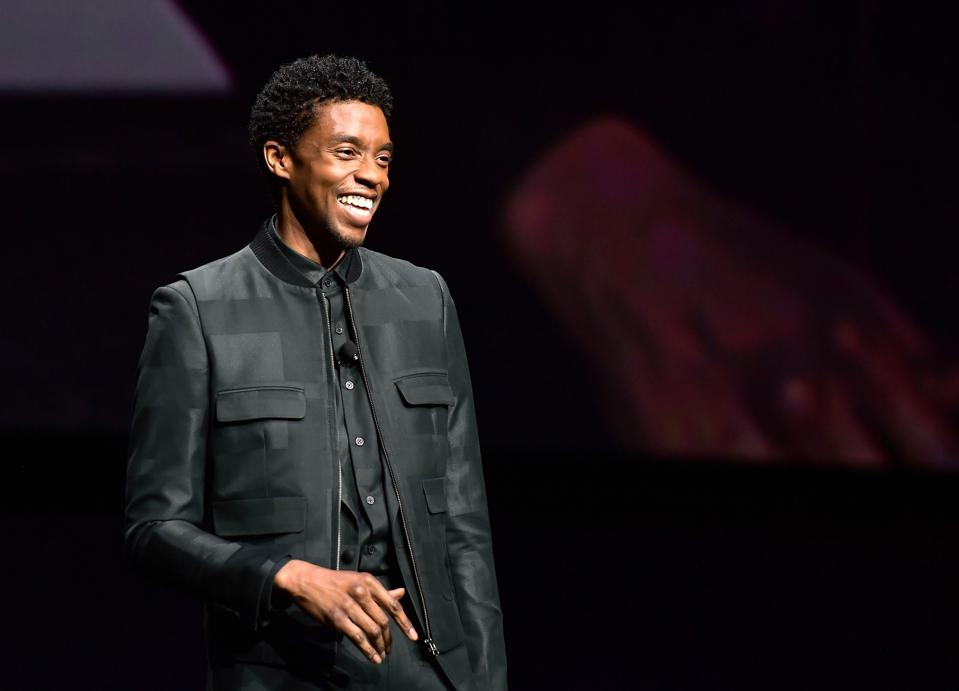 Chadwick Boseman pictured at an event