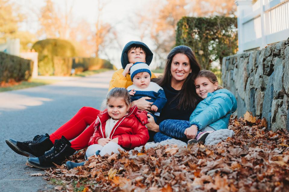 Layla Lisiewski, Founder of The Local Mom Network, and her children