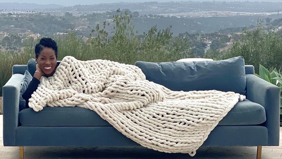 Big Lovie Infinite Chunky Knit Blanket