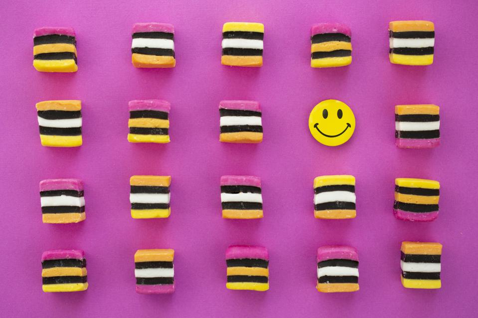 Licorice and a smiley face showing happiness and gratitude.