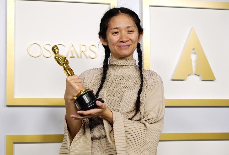 Chloé Zhao, winner of the Academy Award for best director at the 2021 Oscars.