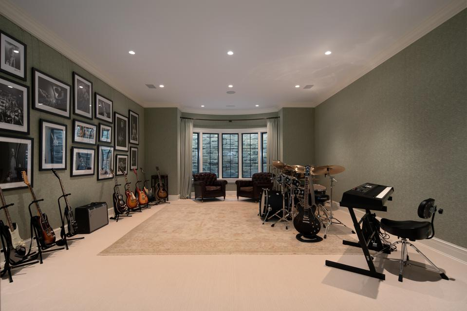 Music room with instruments