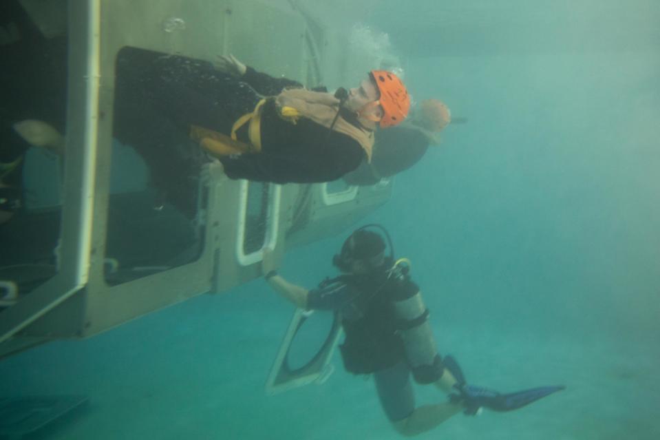 Underwater escape from trainer