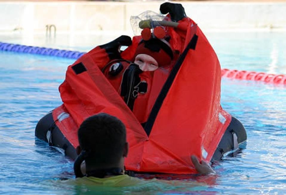 Floating survival suit