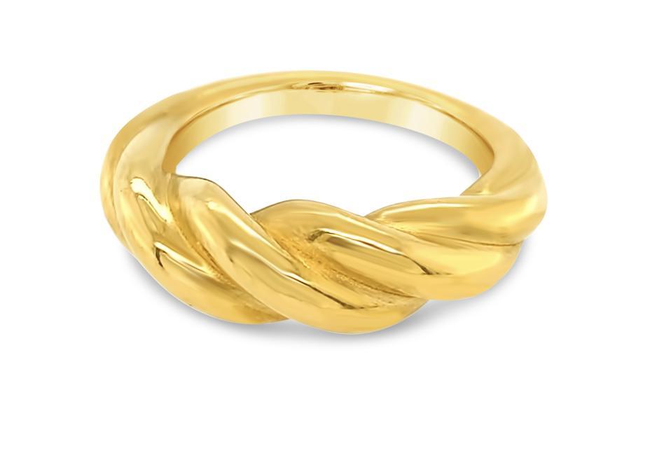Gen 1: Satin Twist Ring in 24K Gold