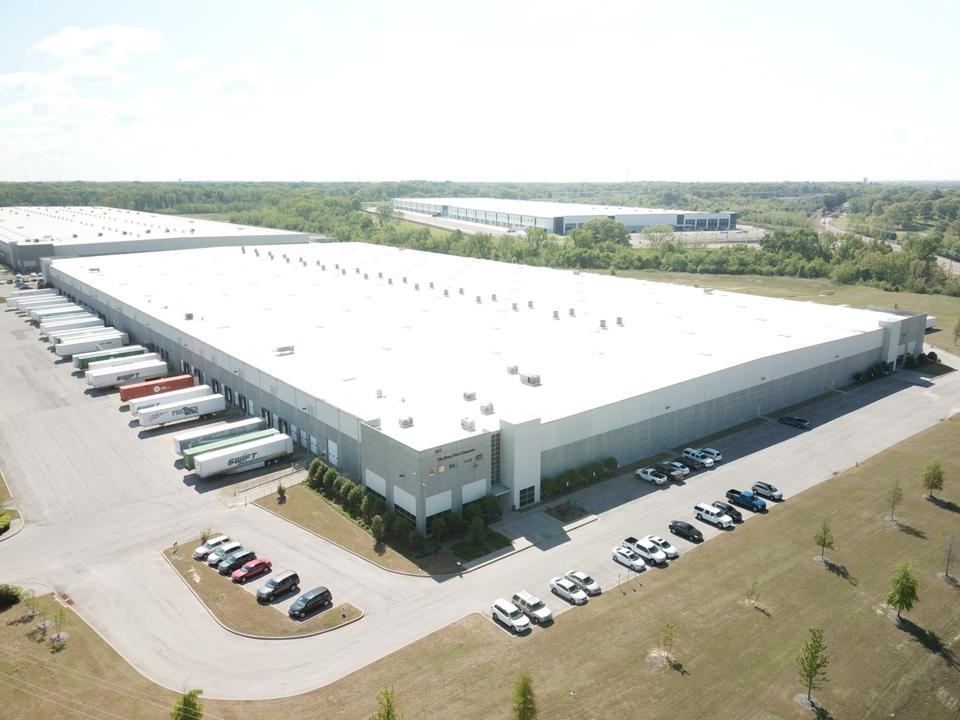 Aerial shot of an NBG Home warehouse