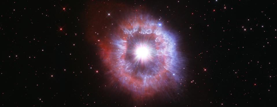 Questa stella, chiamata AG Carinae, è sull'orlo della distruzione.