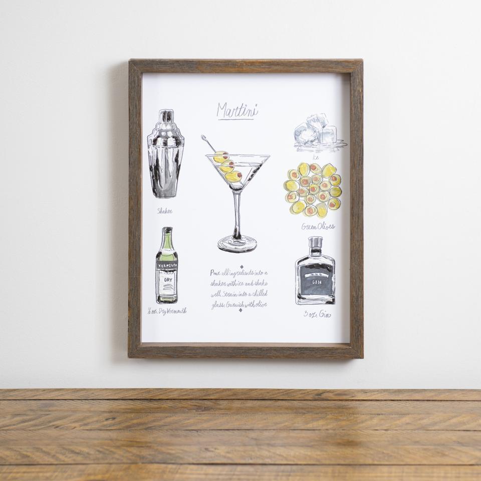 Cocktail Hour Martini Framed Art Print