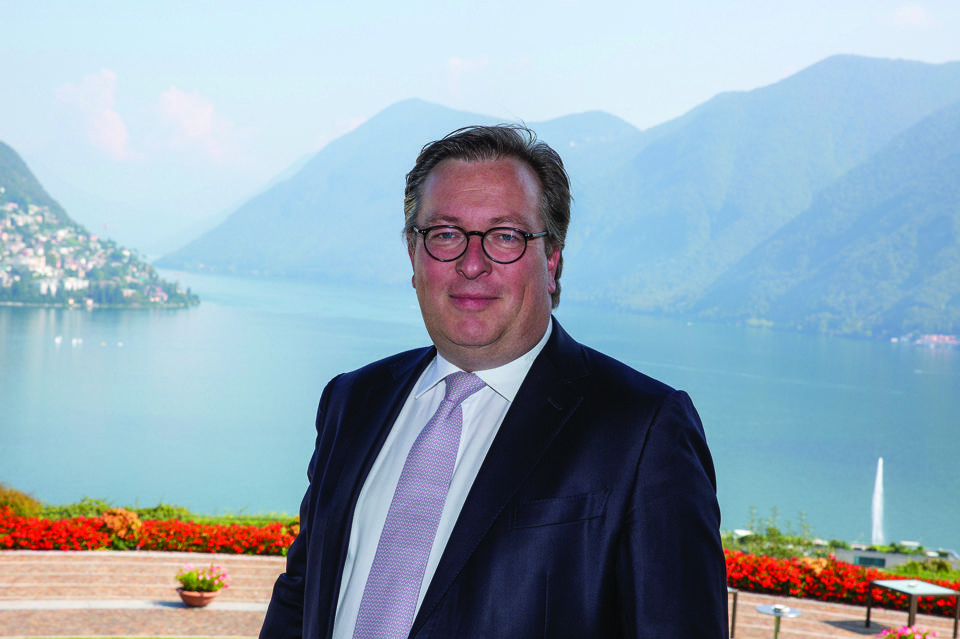 Luxaviation CEO, Patrick Hansen, pictured at Italy's Lake Lugano.