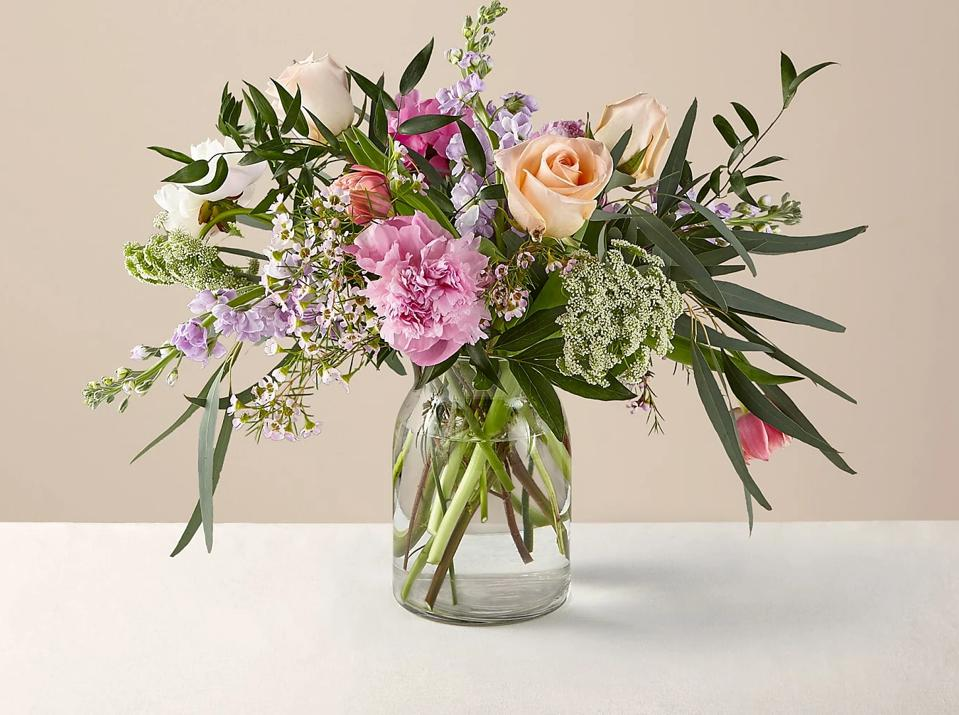 Mother's Day flower deals: Mom's the Word Mixed Peony Bouquet + Vase