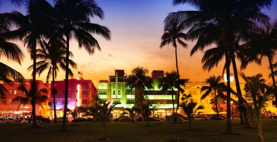 Miami beach at might