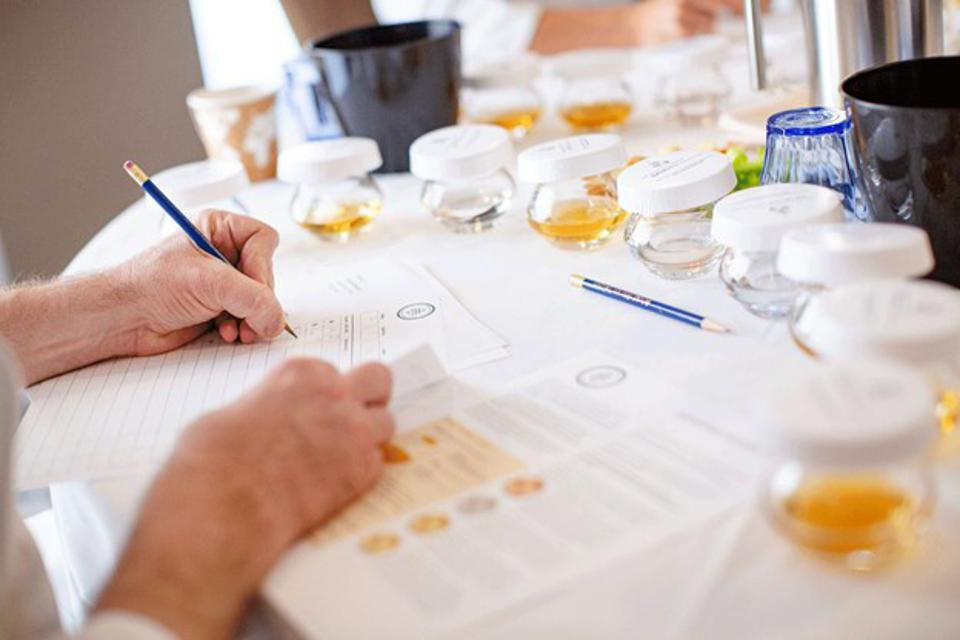 Judging during the 2021 San Francisco World Spirits Competition