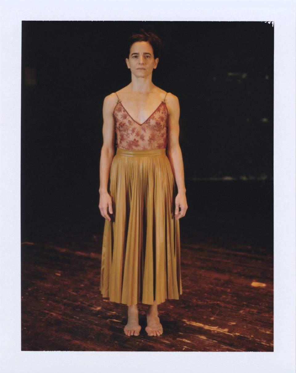 Light cuir all-over pleated shiny nappa midi skirt (not available on Gucci.com yet)