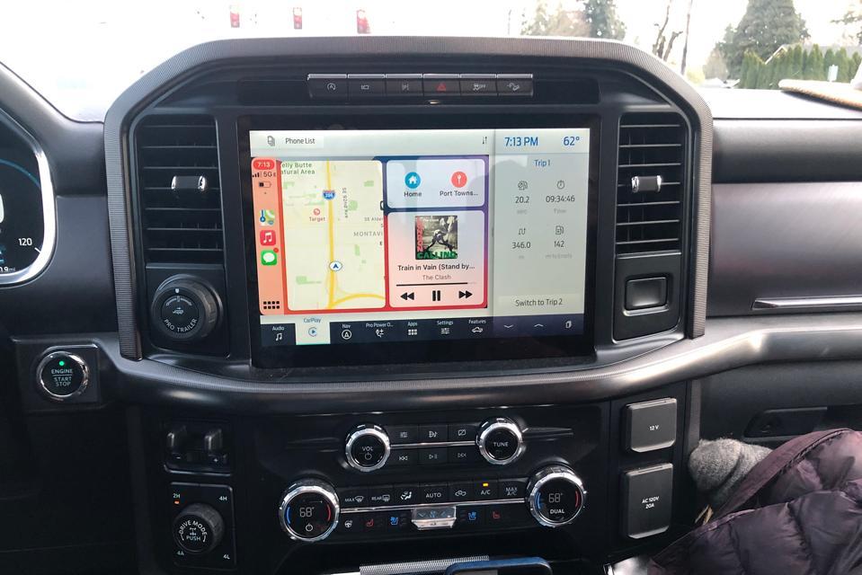 Ford F-150 Platinum pickup truck interior screen