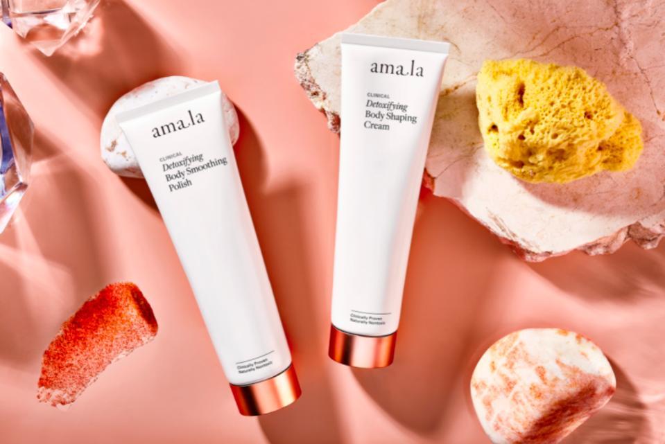AMALA Detoxifying Body Smoothing Polish and Detoxifying Body Shaping Cream