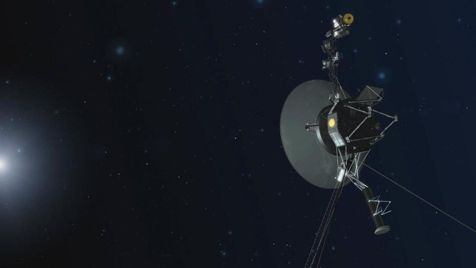 An artist concept depicting one of NASA's twin Voyager spacecraft. Humanity's farthest and longest-lived spacecraft are celebrating 40 years in August and September 2017.