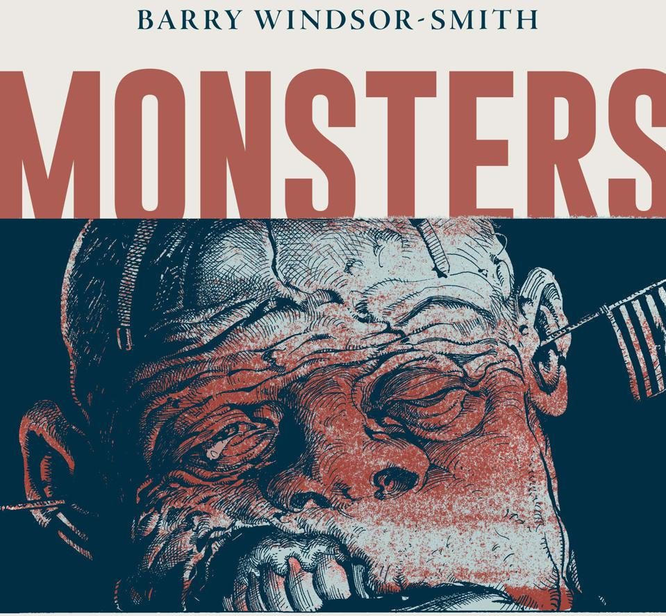Crop of cover to Barry Windsor-Smith 2021 graphic novel Monsters