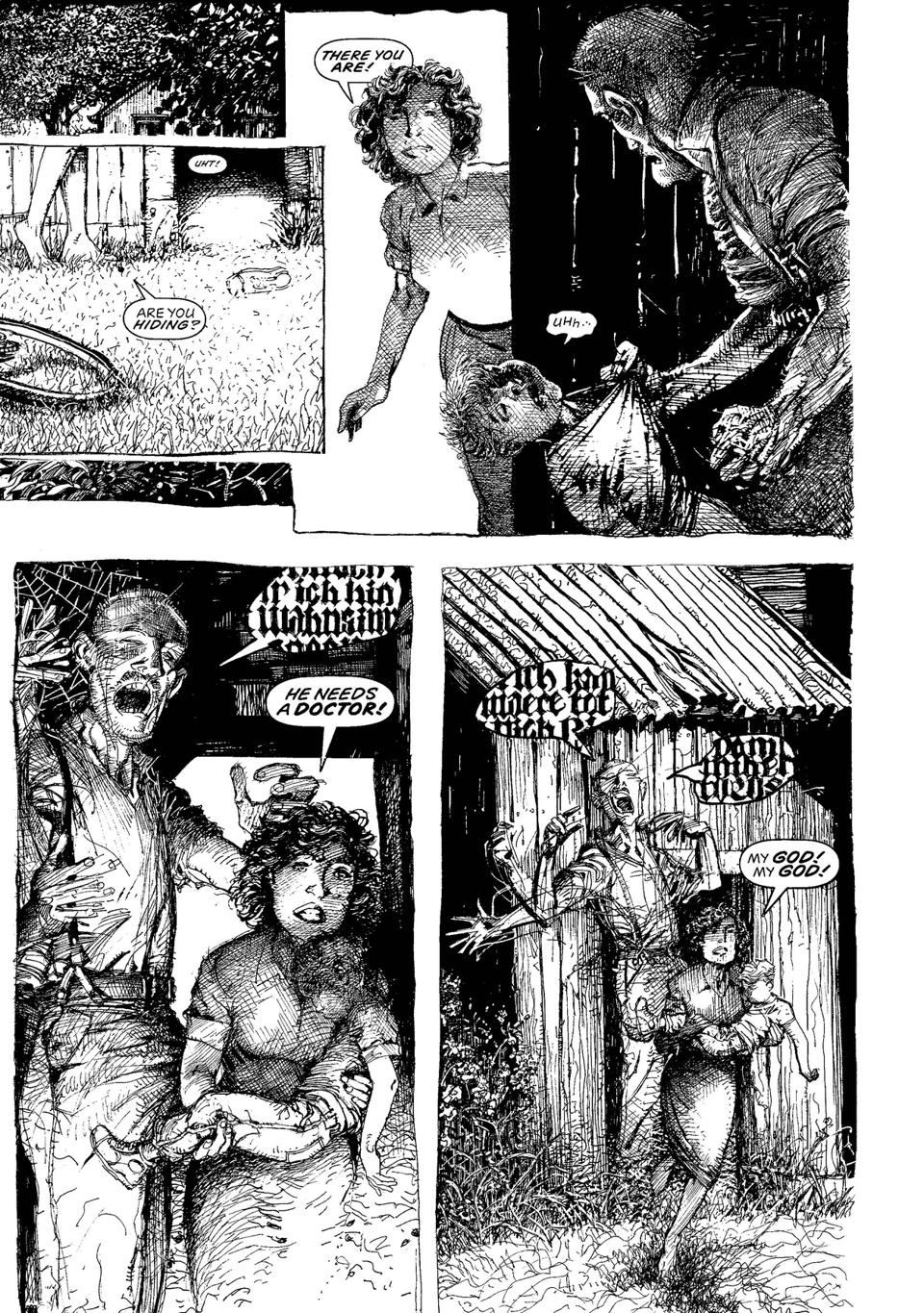 Page from Monsters by Barry Windsor Smith