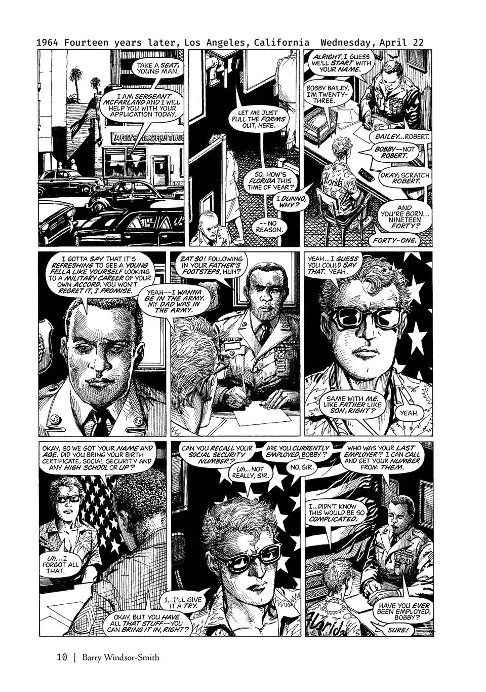 Page from Monsters graphic novel Barry Windor-Smith