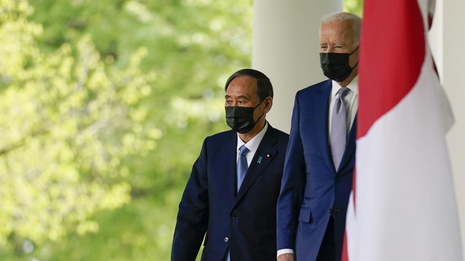 President Joe Biden with Japanese Prime Minister