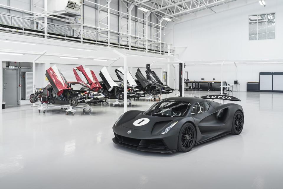 Lotus Evija hypercar.