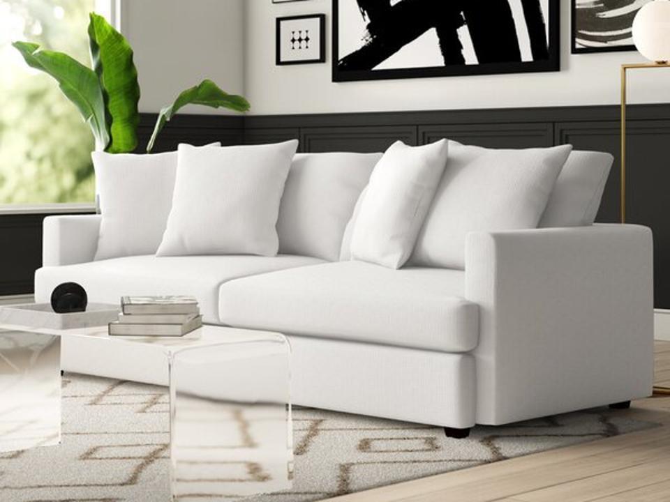 Mercury Row Phokas 93″ Square Arm Sofa