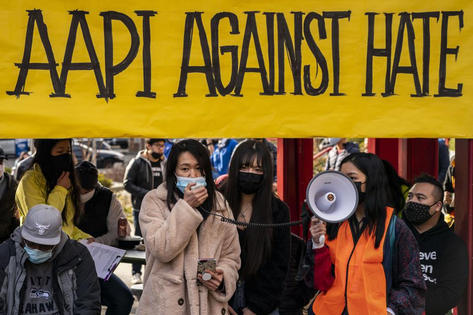 March In Seattle Calls for End To Asian Hate Crimes