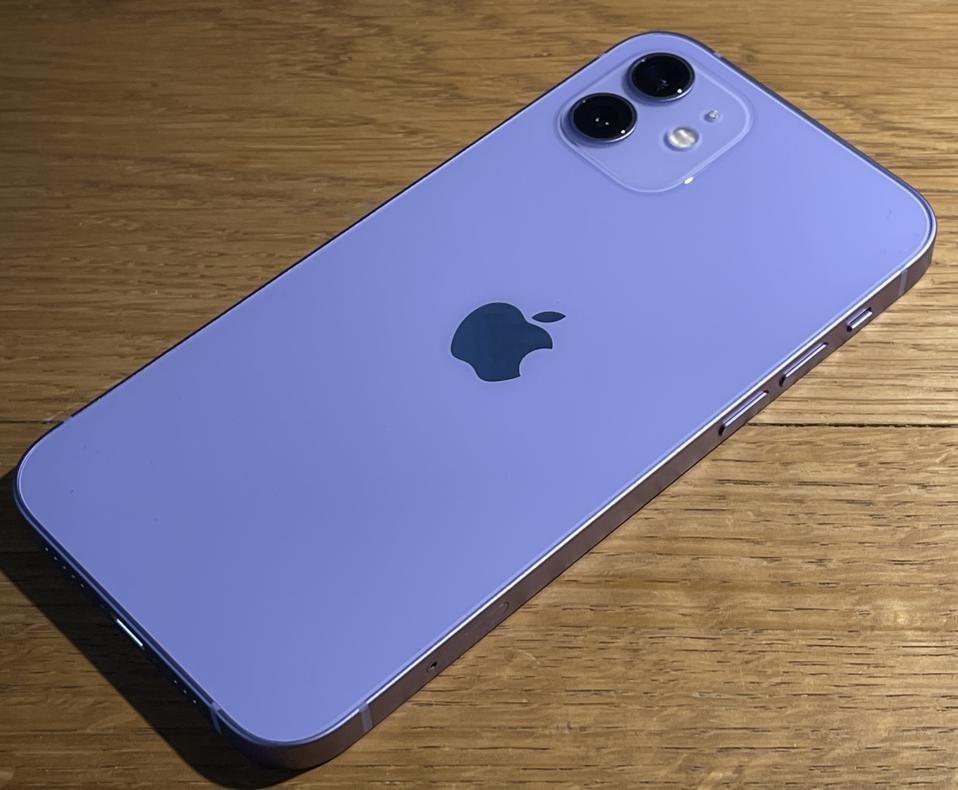 iPhone 12 in purple.
