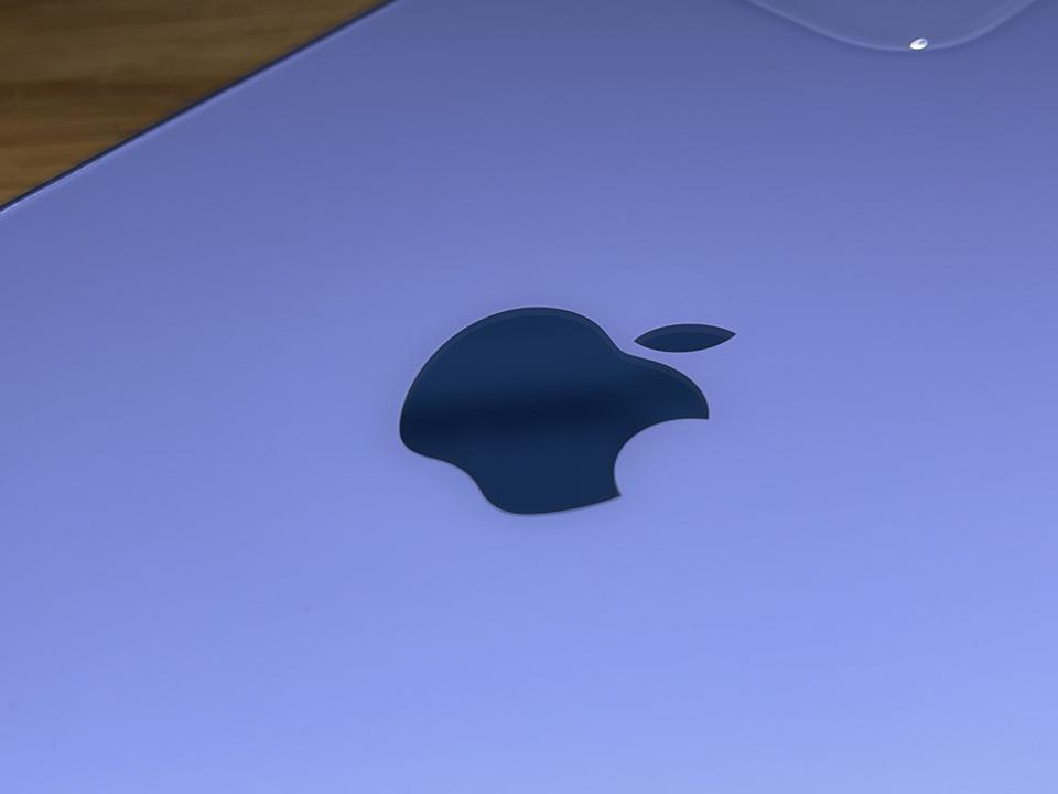 The color-matched Apple logo.
