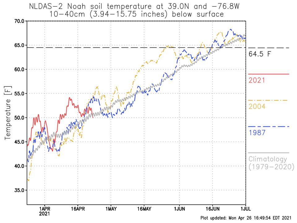 trends in soil temperature