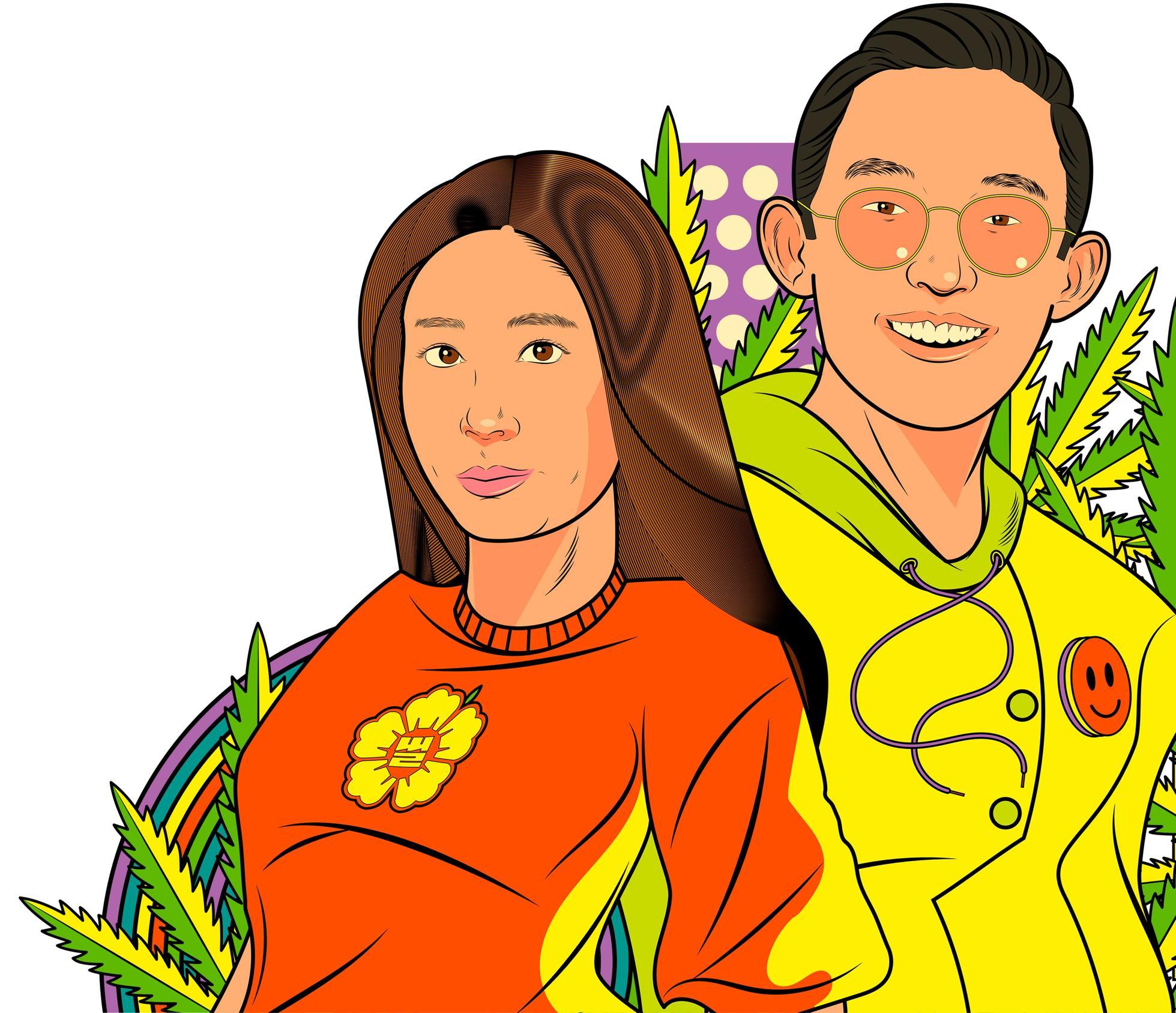 Sundae School cofounder Dae Lim and Mia Park.