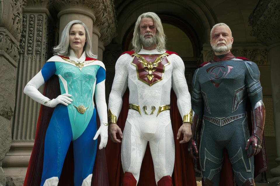 Leslie Bibb, Josh Duhamel and Ben Daniels star in the upcoming Netflix series 'Jupiter's Legacy'.